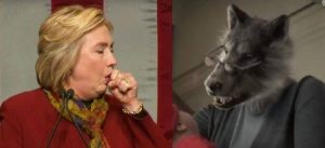 hillary-and-the-wolf