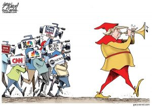 Cartoonist Gary Varvel: Pied piper Donald Trump